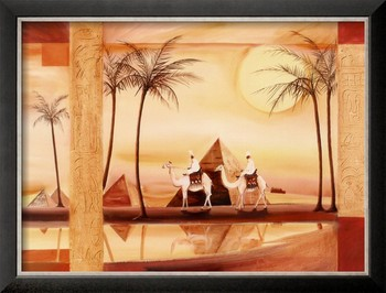 African abstract painting Desert Dreams by Alfred Gockel oil painting canvas art High quality Handmade Home Decor Christmas Gift