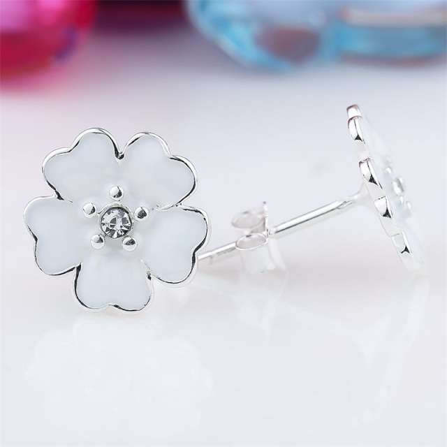 stud mala product flower cz beverly hills silver dainty bridal jewelry earrings kamal