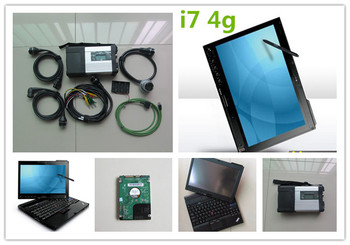 mb sd connect compact 5 star c5 with laptop x201t i7 4g with newest software hdd installed ready to use full set diagnosis