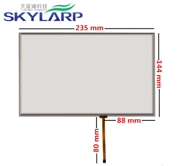 10.1 10.2 inch 4 wire 235mm*144mm Resistive Touch Screen Digitizer for Industrial equipment