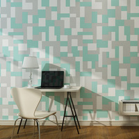 10M Vintage Luxury 3D Grid Wallpaper Embossed Flocking Modern Non Woven Wall Paper Roll Bedroom Wallpapers