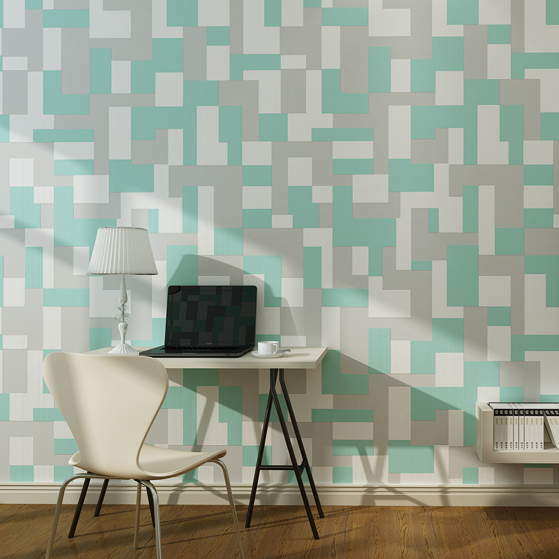 10M Vintage Luxury 3D Grid wallpaper Embossed Flocking modern Non-Woven Wall paper Roll Bedroom wallpapers papel de parede non woven bubble butterfly wallpaper design modern pastoral flock 3d circle wall paper for living room background walls 10m roll