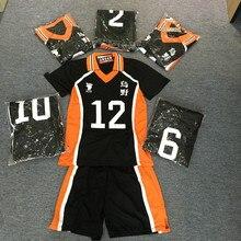 Волейбольный мяч для подростков, 9 популярных аниме стилей, Karasuno, костюмы для косплея средней школы, Haikyuu! Одежда футболки-униформы и брюки