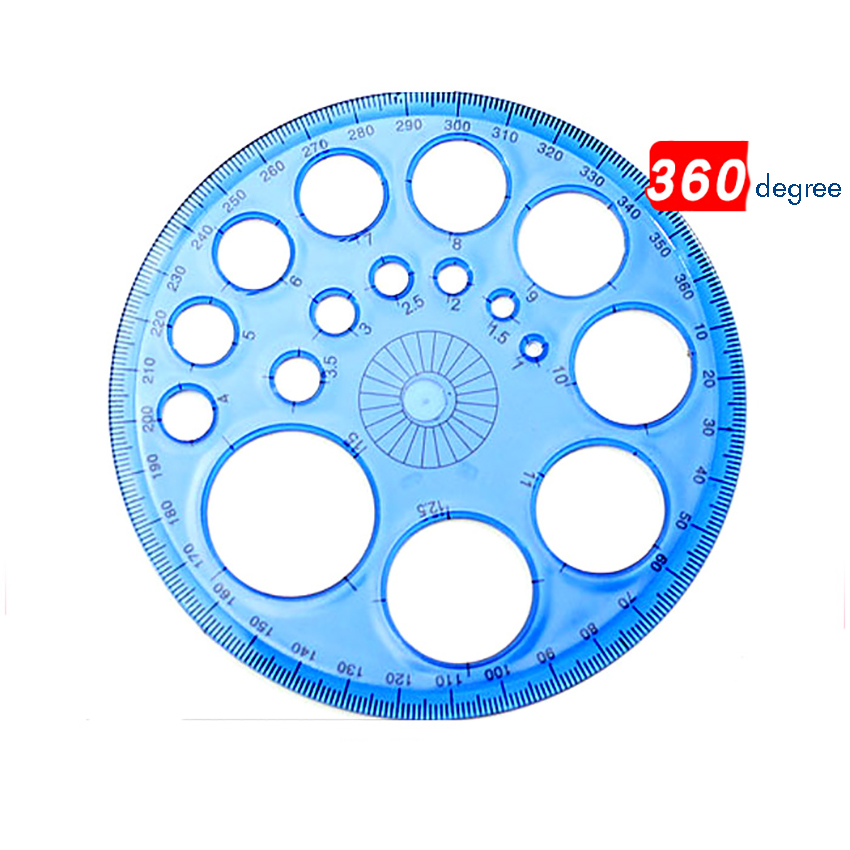 360 Degree Plastic Protractors For Angle Measurement 11.5cm Diameter Circle Drawing Template Circle Maker School Office Supply