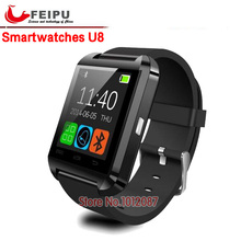 2016 original u8 smart watch bluetooth armbanduhr mode smartwatch für apple iphone android samsung htc lg sony 3 farben tragen