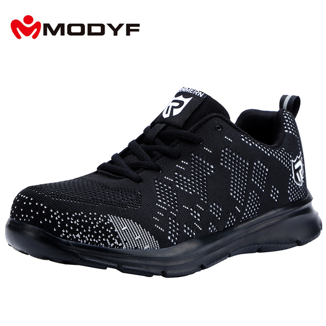 Lightweight Breathable Men Safety Shoes Steel Toe Work Shoes For Men