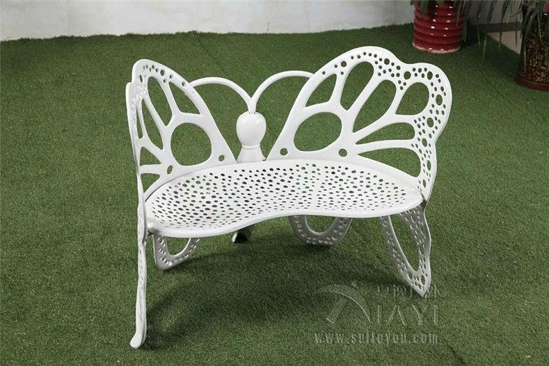 Double seater antique cast aluminum durable high quality butterfly garden bench park chair - Garden bench ideas complete piece heaven ...