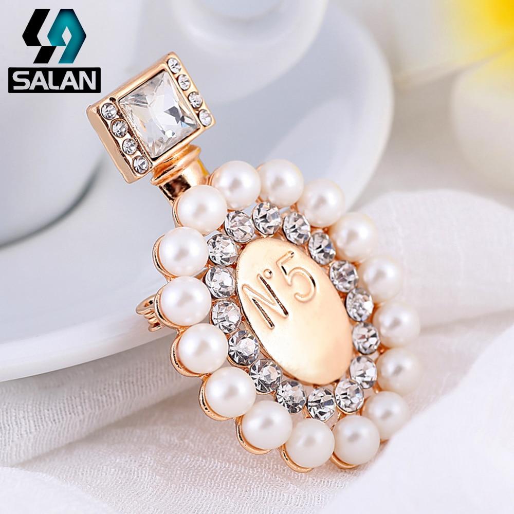 Korean style personality collar collar perfume bottle brooch brooch accessories pin buckle shirt collar buckle crystal collar co