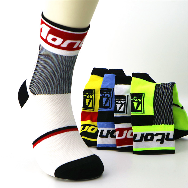 Men Outdoor Sport Cycling Socks Breathable Basketball Running Bicycle Socks Breathable