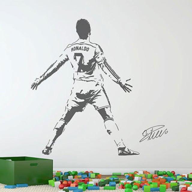 Online shop cristiano ronaldo wall decal sticker football soccer image voltagebd Choice Image