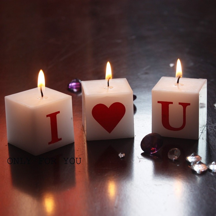 New Candles Couple Bougie Letters I Love You Romantic