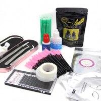 free shipping professional lash training kit eyelash extension tools set glue eyelash extension kit