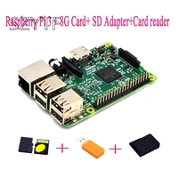 Raspberry Pi 3 + 8G Card+ SD Adapter+Card reader Raspberry Kit