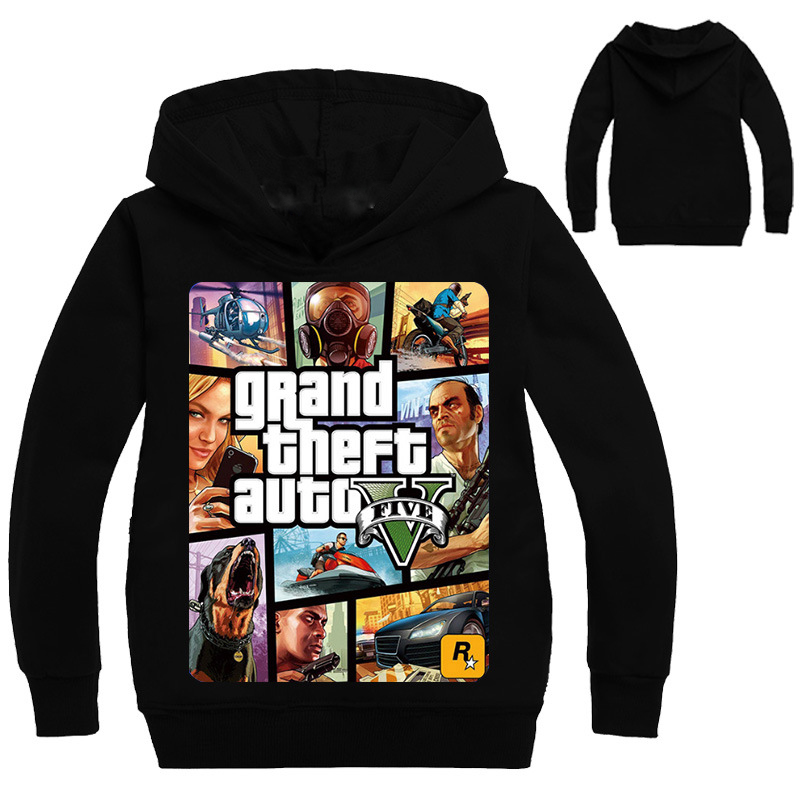 Boys Outwear gta 5 Hoodies gta Street Fight Long with gta 5 Costumes Clothes T shirts Children's Sweatshirts For Boys Kids Tops