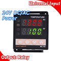 Digital PID TEMPERATURE CONTROLLER REGULATOR Thermostat in Power 24V DC AC, Thermocouple K J E PT100 sensor Input, Relay Output
