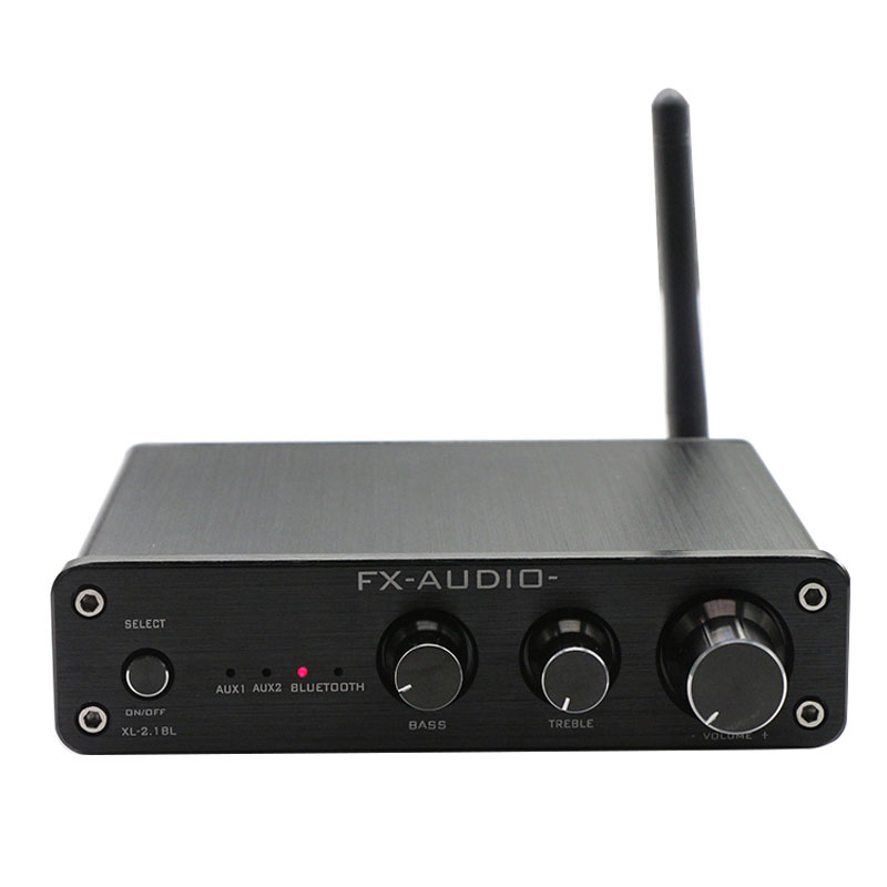 купить FX-AUDIO XL-2.1BL TPA3116 HIFI audio high-power Bluetooth 4.0 CSR8635 multimedia digital amplifier 50W*2+100W with adapter недорого