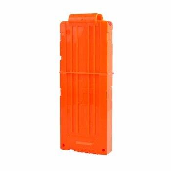 12 Reload Clip Magazines Round Darts Replacement Plastic Magazines Toy Gun Soft Bullet Clip Orange For Nerf N-Strike Kids toy