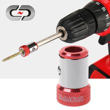 "Chave de fenda bits anel magnético 1/4 ""6.35mm metal forte magnetizador parafuso"
