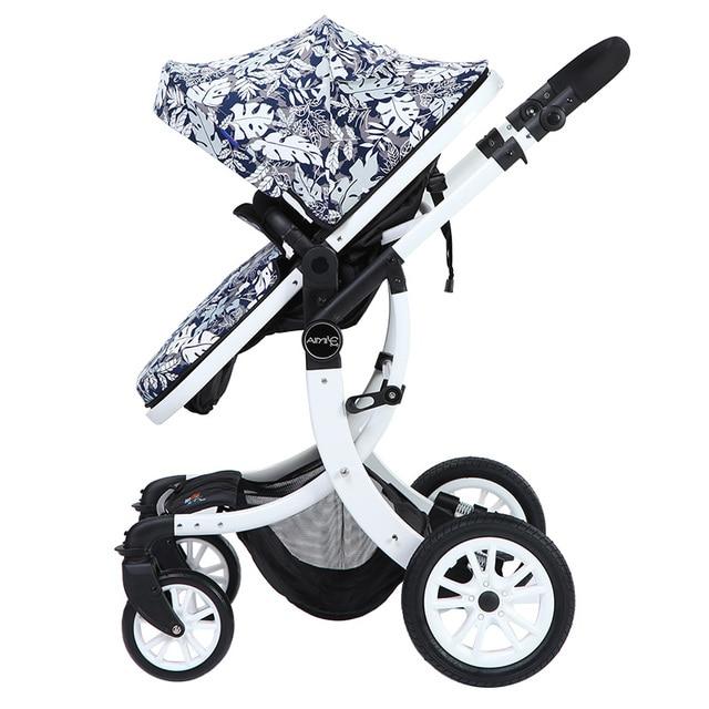 Kinderwagen 3 in 1 wandelwagen voor kinderen auto poussette buggy buggy kan zitten en liggen kinderen wandelwagen