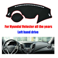 Car dashboard covers mat for Hyundai Veloster all the years Left hand drive dashmat pad dash cover auto dashboard accessories
