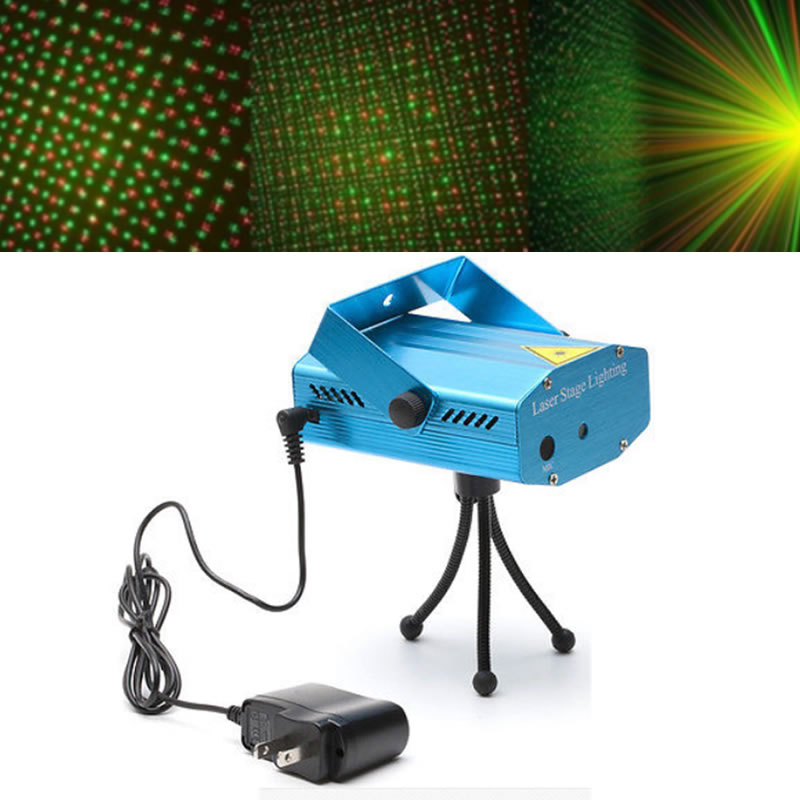 SPLEVISI Mini R&G Laser Star LED Stage Lighting Projector for Disco DJ XMAS Party Stage Bar Pub Club Light new mini laser star club projector stage lighting