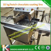 free shipping ss 304 chocoalte processing line  fruit coating chocolate machine