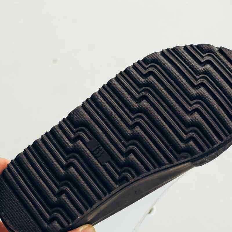 SKEHK חורף גומי בנות מגפי אופנה חם ילדי נעלי בני עור מפוצל קטיפה פלטפורמת דירה חדשות 2 צבעים ילדי מגפיים
