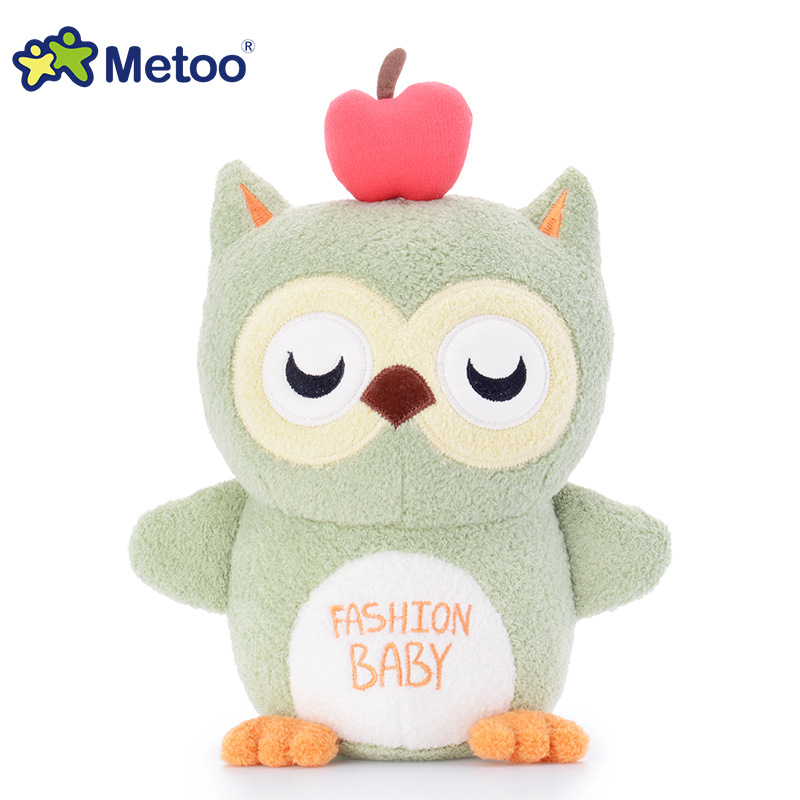 7 Inch Kawaii Plush Stuffed Animal Cartoon Kids Toys for Girls Children Baby Birthday Christmas Gift Owl Metoo Doll stuffed dog plush toys black dog sorrow looking pug puppy bulldog baby toy animal peluche for girls friends children 18 22cm