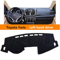 Left Hand Drive Car Sticky Dashboard Cover For Toyota Yaris Luxury Rose Style Auto Dashboard Pad