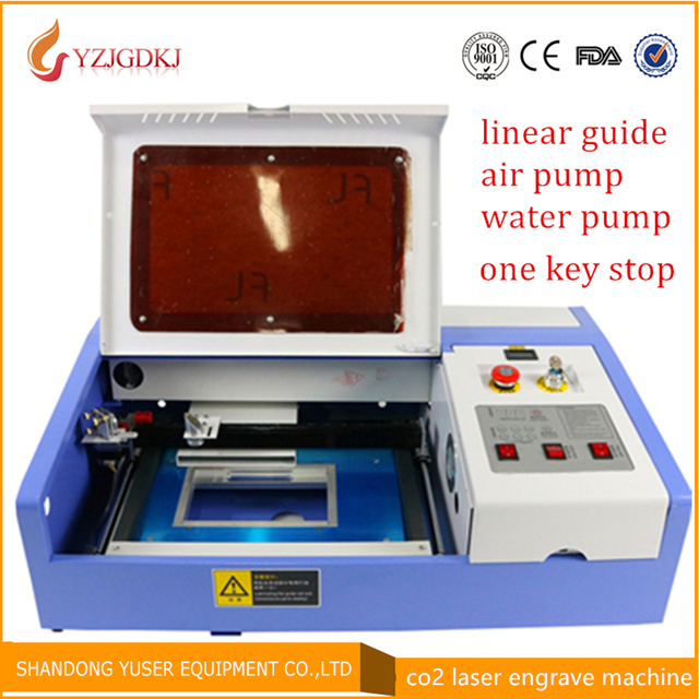 40W 3020 linear guide laser engraving machine working area 30X20cm laser cutting machine Laser cutter mini laser engraver