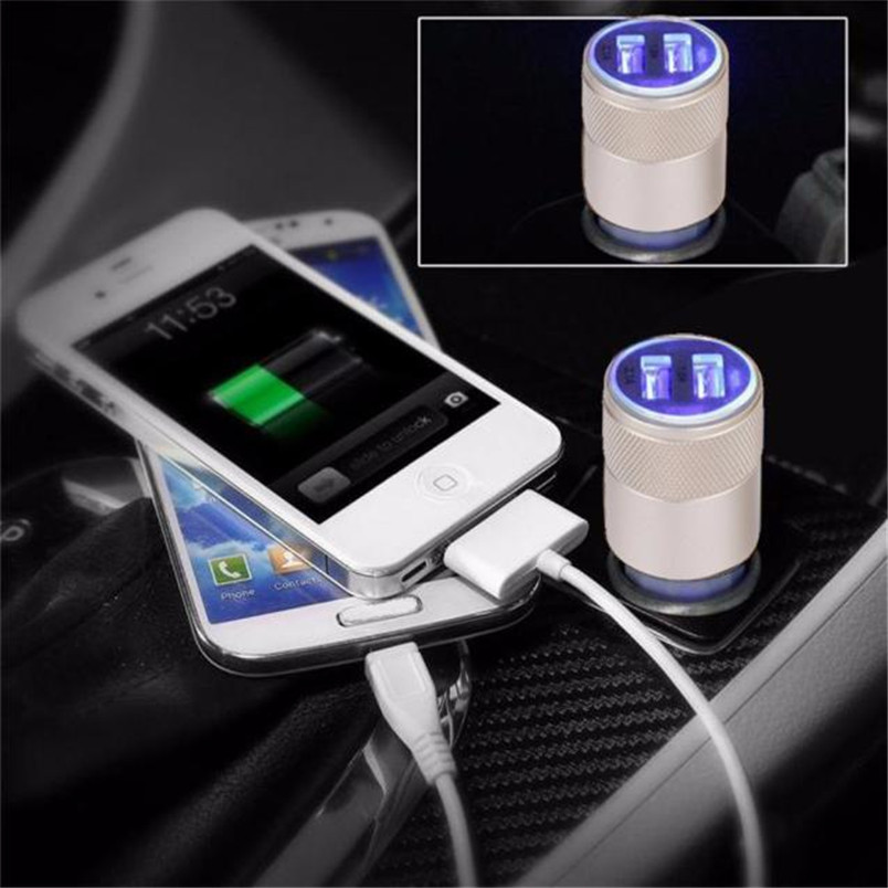 2.1A/1.0A Mini Dual 2 Port 12V USB Auto In Car Charger Adapter Adaptor Charging P30 Support Drop Shipping OCT17