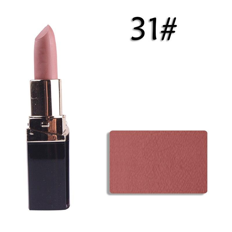 2PCS Woman Make Up matte 31 MISS ROSE Tasteless Lipstick Matte Square Tube Vitamin E