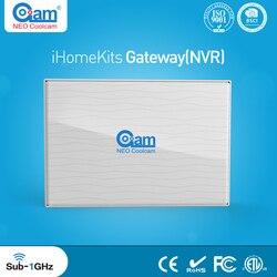 NEO Coolcam iHome أطقم NAS-AC01DT نظام إنذار لا سلكي بوابة (HD 8CH NVR) لأمن الوطن