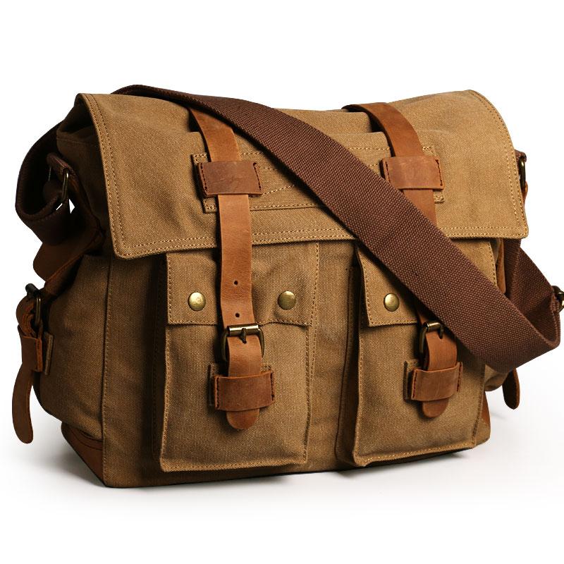 2019 Fashion Canvas + Real Cowhide Leather Vintage Travel Flap Shoulder diagonal Men Bag Messenger Bags2019 Fashion Canvas + Real Cowhide Leather Vintage Travel Flap Shoulder diagonal Men Bag Messenger Bags
