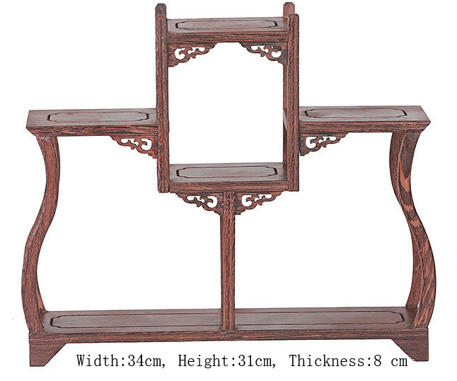 Exquisite Chinese Decoratable Classical Handmade Wenge Wooden Display Stand Shelf No 9