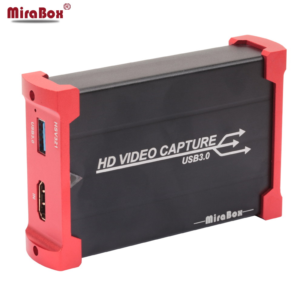 MiraBox USB3.0 60FPS Game Capture Device Dongle Game Streaming Live Stream Broadcast 1080P HD Video Capture Card image