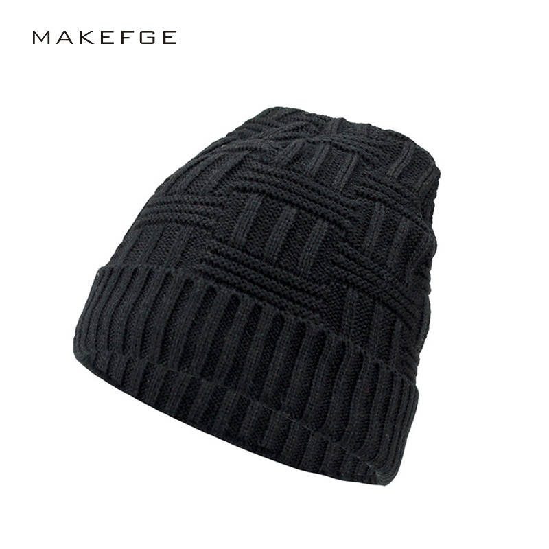 New Fashion Men's winter warm hat high quality cotton hat Men Wool Hat Unisex Cap Beanie Knitted Caps Outdoor Sport Warm Hat new arrival men knitted hat high quality brand designer winter cap fashion warm men beanie outdoor casual caps