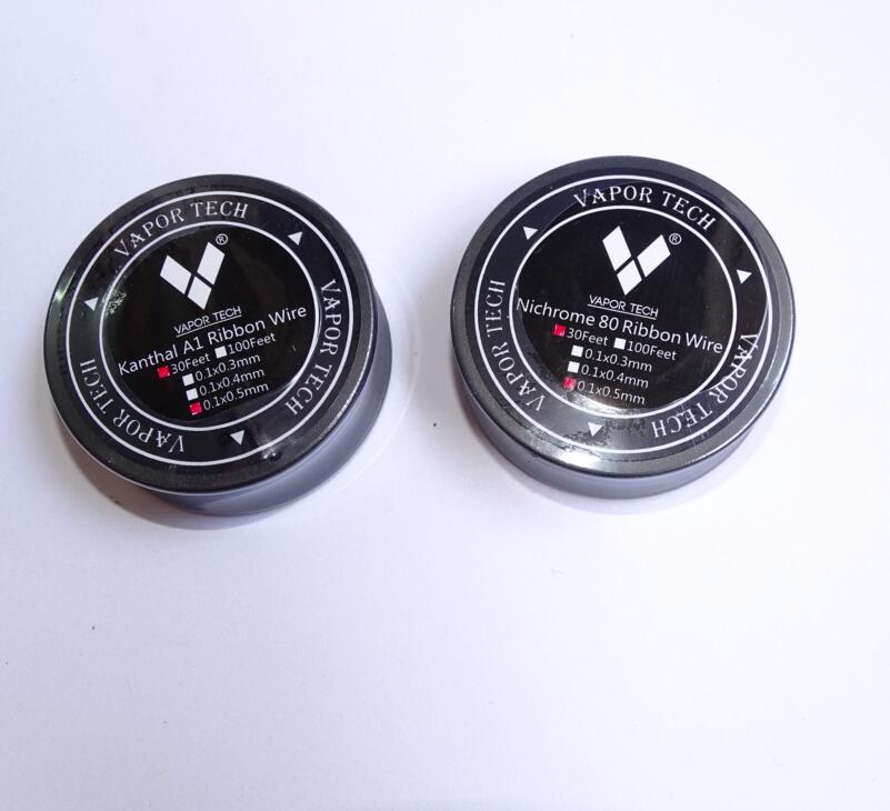 kanthal A1 ribbon wire and Nichrom 80 ribbon wire