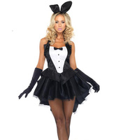 New Promopion Cute Rabbit Lady Magician Tuxedo Halloween Adults Cosplay Costume Women Sexy Party Fantasia Maid