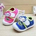 2016 Zapatos de Bebé de Dibujos Animados Mono Patrón Lindo del Mono para el Muchacho Zapatos Casuales Zapatos de Bebé Niña Niño Deporte Zapatos de Niño Bebé femenino otoño