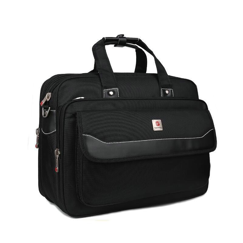 17 Zoll Mode Große Kapazität Business Aktentasche Computer Dokument Nylon Handtasche