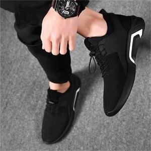 Image 2 - ファッションメンズカジュアルとビジネススニーカーすべりにくいスポーツ靴軽量快適な通気性ウォーキングスニーカー