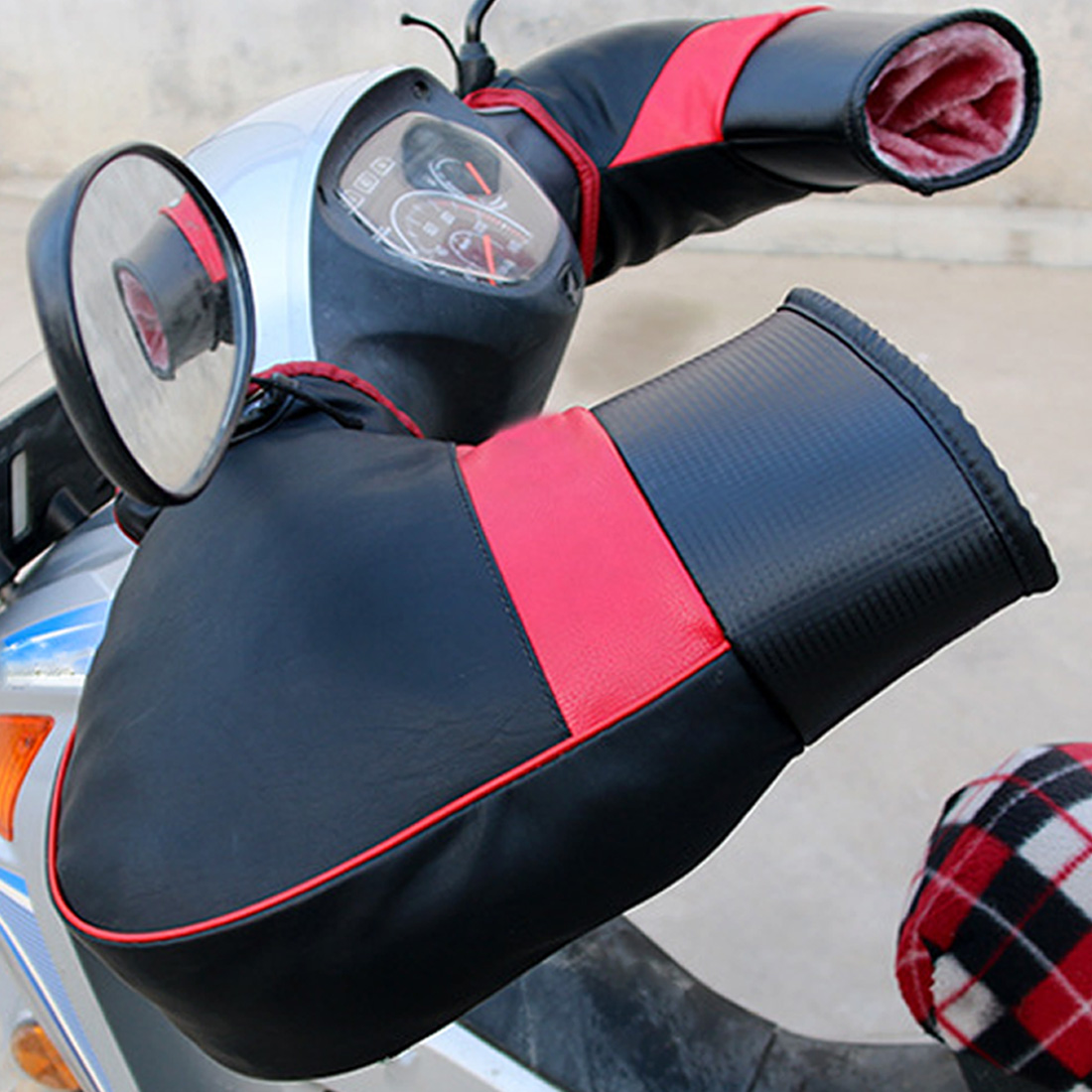 Handlebar Mitts Snowmobile Muffs Motorcycle Grip Hand Covers Waterproof Warmers