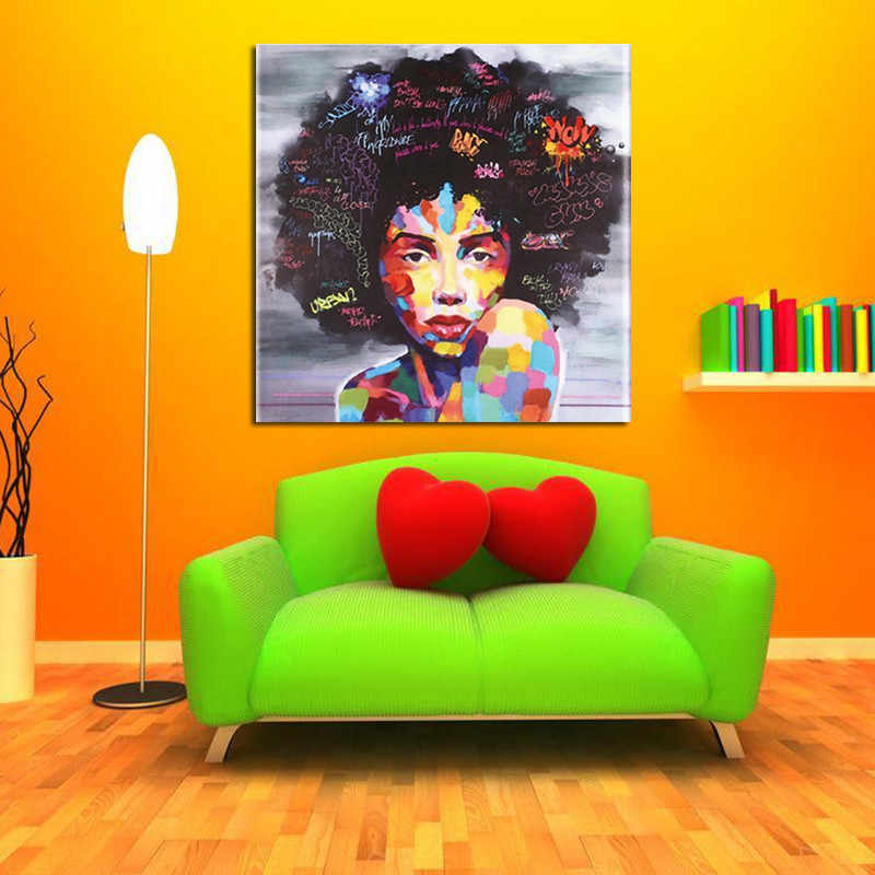 Canvas Picture Colorful Oil Painting DIY Huge Oil Painting By Numbers Europe Abstract Canvas Painting For Living Room Wall decor