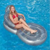 INTEX transparent armrest backrest folding inflatable floating row floating bed sofa matelas gonflable piscine air mattress