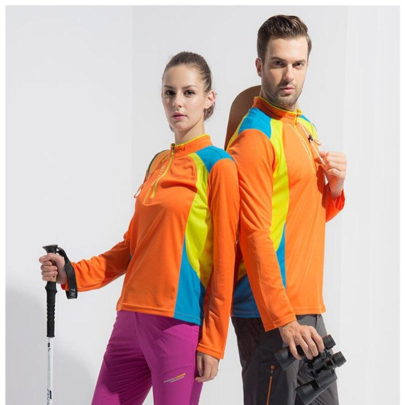 Men  women's hiking shirts fast - dry T - shirts breathable long sleeves outdoor sports shirts hiking T - shirts camping e