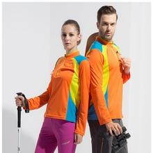 Men / women's hiking shirts, fast – dry T – shirts, breathable long sleeves, outdoor sports shirts, hiking T – shirts, camping e