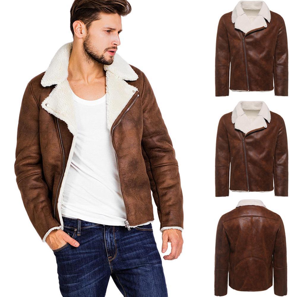Coat Jacket Sheepskin Genuine-Leather Top-Parka Winter Warm Autumn Liner Fur Zipper Outwear