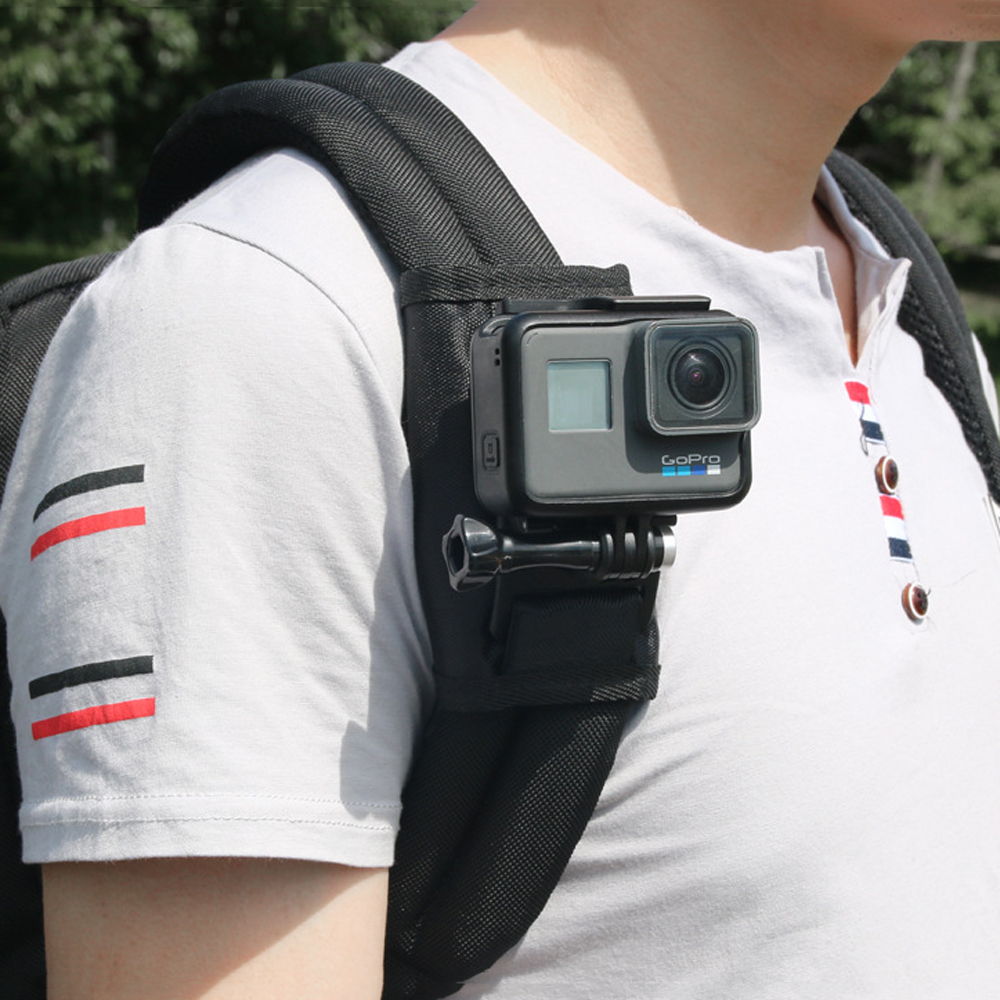 Bakeey Sport Camera Backpack Clip Mount 360 Degree Rotary For Xiaomi Yi for Gopro Hero7 6 5 4 Action Camera Accessories(China)