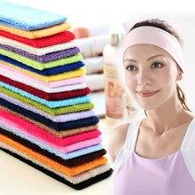 Venda quente correndo bandana esportes estiramento bandana yoga na moda cor sólida faixas de cabelo suor sweatband novo